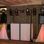 Disco Setup with White Pyramids