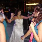Bride Dancing at her Wedding Reception Northamptonshire