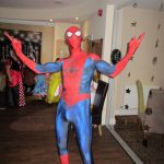 Spiderman at a party